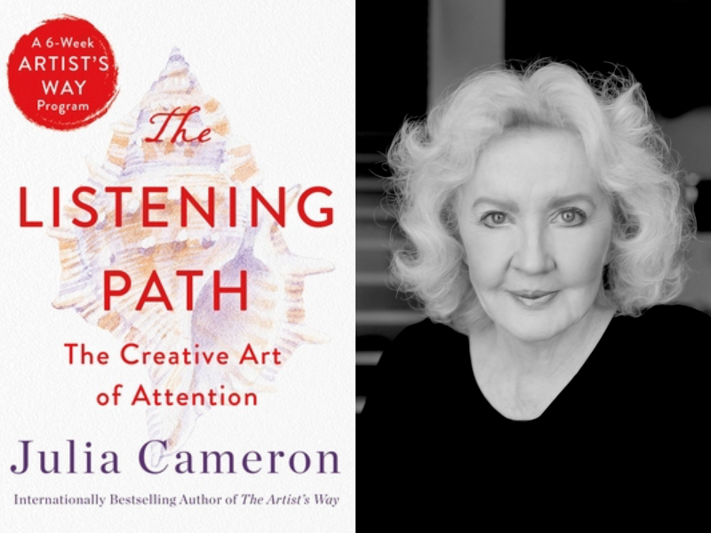 Julia Cameron with editor Joel Fotinos